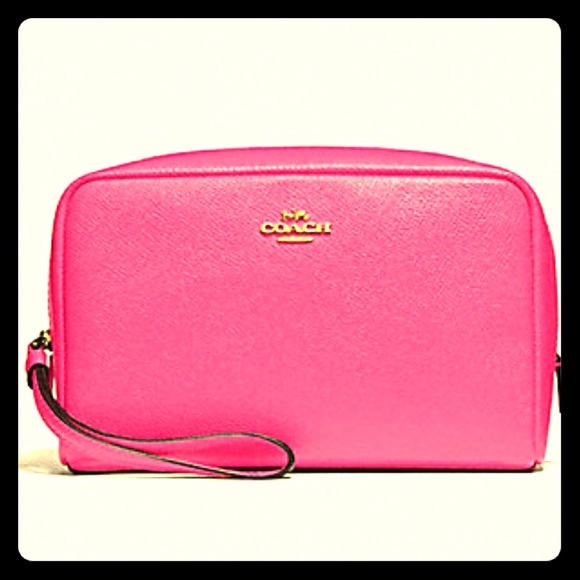 Coach Handbags - Pink Ruby cosmetic case by Coach